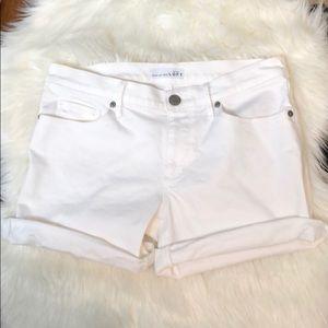Ann Taylor LOFT Cuff White Jean Shorts
